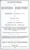 MATHISE, Henry - 1869 Herkimer County Gazetteer - Cover Page