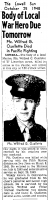 OUELLETTE, Wilfred G., Jr. - Return of Body