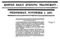 SCHELL, Peter - Passage Announcement - 04 Nov 1857