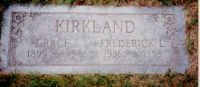 THOMAS, Grace and Son Frederick KIRKLAND Grave