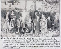 OUELLETTE, Children - West Brookline School Photograph